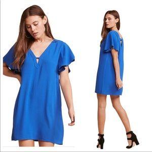 "Jack by BB Dakota ""0 to 100"" Blue Deep V Dress"
